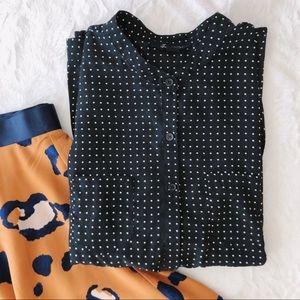 {forever 21} silky polka dot blouse